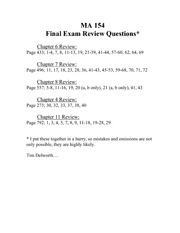 FinalExamReviewQuestions