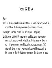 insurance peril and risk.pptx
