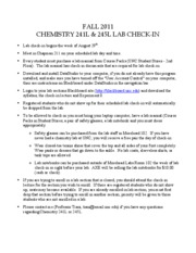 Chem 241L Check-In Flyer Fall 2011