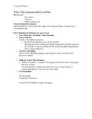 Time Travel presentation outline