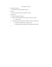 Essay Question 1 Outline