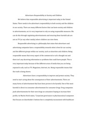 COMM 430 Discussion Essay #4 on Children and Advertising