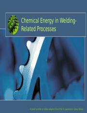 Chemical Energy in Welding-Related Processes