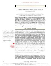 Glucocorticoid Induced Bone Disease