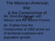 the_mexican_american_war_amp_compromise_of_1850