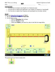 PhET Wave on a String Student Learning Guide (Share with ...