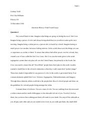 American History Final Exam Essays.docx