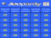 ARH 329 Final Review Jeopardy Game