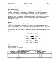 Lab 8 Analysis of a Mixture of Carbonate and Bicarbonate.docx
