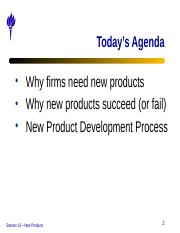Session 16 - New Products