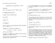 Math 101 Apr 95 Questions