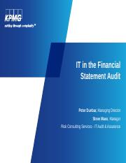 KPMG -  IT Audit Presentation 10-24-16.pptx