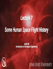 AerE 160 Lecture 7 - Human Space Flight History