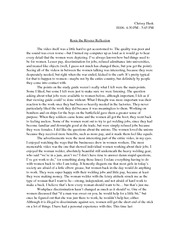 Rosie the Riveter Reflection Paper