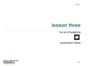 Lesson 03 -- The Art of Budgeting PPT