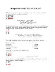 Homework 2 Financial Statement and Time Value of Money real
