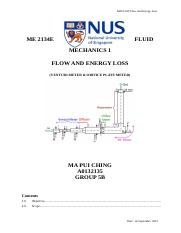 ME 2134E FLUID MECHANICS 1