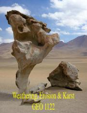 Lecture 3_Weathering and Erosion