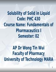 solubility of solid in liquid