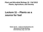 11 - Plants as a source for fuel