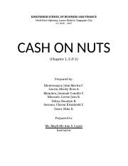 Chapter 1-3 CASH ON NUTS