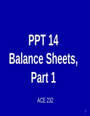 PPT 14 Balance Sheets Part 1 .pptx