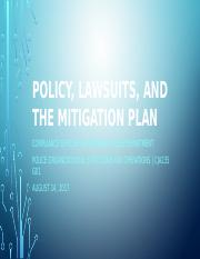 Policy, Lawsuits, and the Mitigation Plan 235.pptx