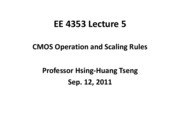 EE4353_Lecture_5_CMOS-Operation_And_Scaling