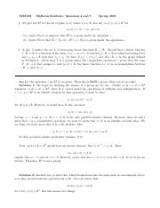 MAT301 Midterm - Solutions to Problems 4 and 5