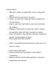 Culinary Terms 2014