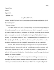 Essay Three Prewrite