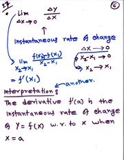 MATH 111 Instantenous Rate of Change Notes