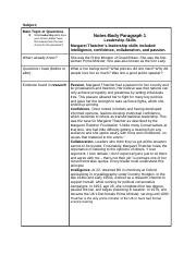 Argumentative Writing Template Body Paragraph 1