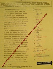 Placement Test 1999
