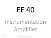 L10 Instrumentation Amplifier