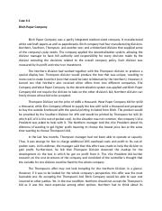 case 6 2 birch paper company Find birch paper company example essays, research papers, term papers, case studies or speeches to: commercial vice presidentbirch paper companyalthough the.