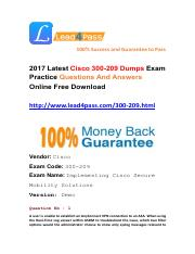 2017 Latest Lead4pass 300-209 Dumps PDF Files Free Try.pdf