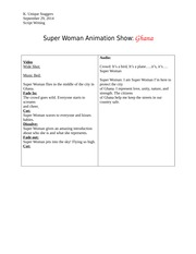 Script Writing Show Super Woman Animation Show