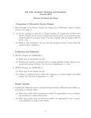 ISE4100_Practice Problems for Final