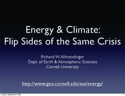 Energy and Climate Guest Lecture