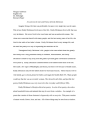 emily dickinson research paper