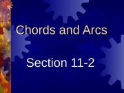 11-2 Chords and Arcs