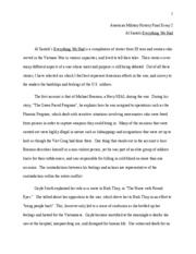 Everything we had essay #1
