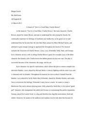 2 pages youre a good man charlie brown critique. Resume Example. Resume CV Cover Letter