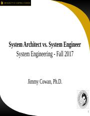 u01s5 - Cowan (2017) System Architect vs Engineer.pptx