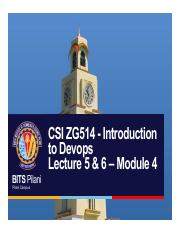 CSI ZG514 - Introduction to Devops Lecture 5 and  6 – Module 4.pdf