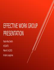 Effect Work Group Presentation