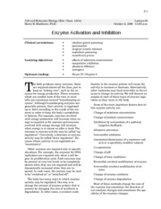 enzyme activation and inhibition - 6