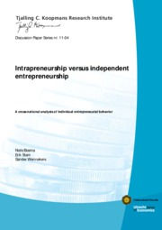 Intrapreneurship vs independent entrepreneurship A cross national analysis of individual entrepreneu