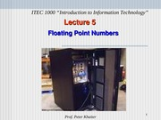 Lecture 5 Notes, Floating Point Numbers